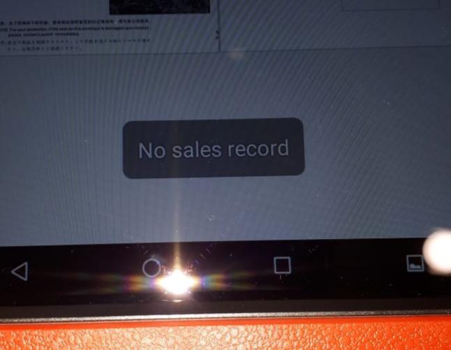 No sales record
